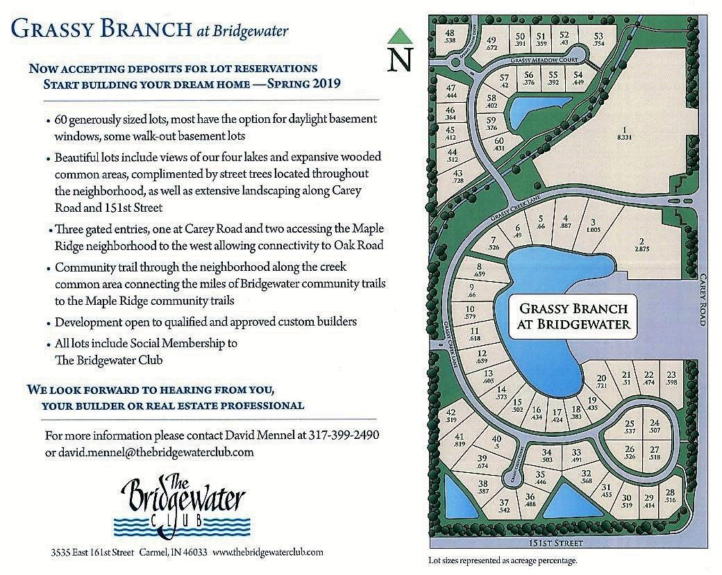 Grassy Branch lot map