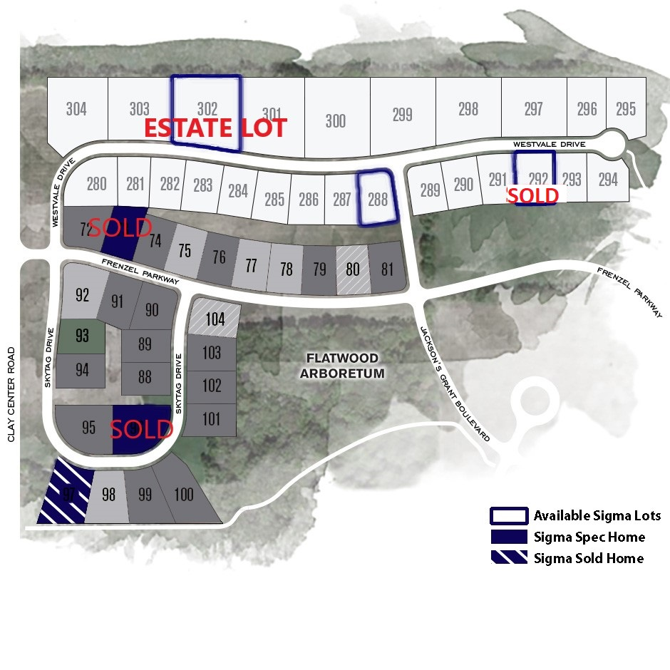 Jackson Grant_Lot Map after 292 sold